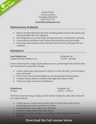 Esthetician Resume Examples Cosmetologist Resume Free Resume Example And Writing Download
