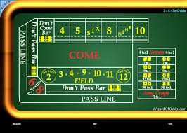 Craps Table Craps For Free Wizard Of Odds