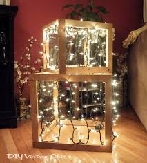 Homemade Christmas Presents by Diy Vintage Chic How To Make Lighted Christmas Presents For Outdoors