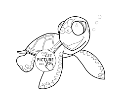 little turtle cartoon animals coloring pages for kids printable