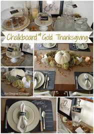 chalkboard gold thanksgiving table decorations