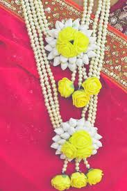 flower jewellery flower jewellery set yellow renu s creative shop