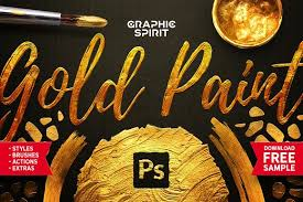 toolkit gold paint effect photoshop layer styles creative market