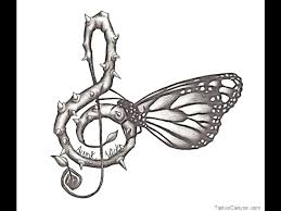 music notes designs beautiful butterfly music note tattoos