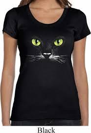 ladies halloween shirt black cat scoop neck tee t shirt black