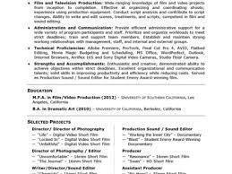 Monster Com Resume Samples Tv New Media Producer Resume Sample Sample Production Resume