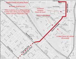Riverwalk Map Pueblo Parade Of Lights Route Map Pueblo Colorado Parade Of Lights