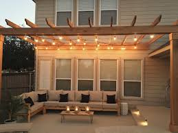 Patio Furniture Lighting White Outdoor Sectional And Pallet Coffee Table Diy