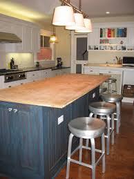 Kitchen Island Countertop Overhang This 50 U0027s House Kitchen Island Butcher Block Countertop