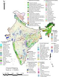 World Map Of India by New Vegetation Type Map Of India Prepared Using Satellite Remote
