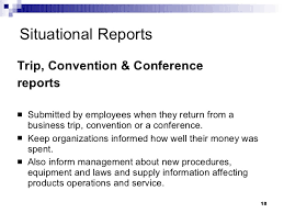 conference report template types of business reports