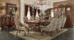 European Dining Room Furniture Homey Design Swan European Dining Table Set 8 Chairs And China Hd