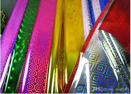 holographic gift wrap 100sheets pack 70x50 cm holographic wrapping paper metallic gift