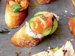 crostini with cucumber smoked salmon and dill recipe myrecipes