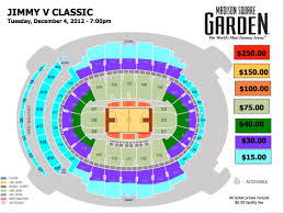 Msg Floor Plan by Garden Seating Chart Madison Square