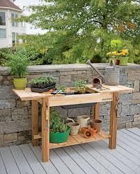 lawn garden versatile cedar potting bench for seed starting