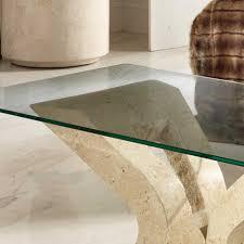 wohnzimmer glastisch glastisch feixon für wohnzimmer mit steinfuß pharao24 de