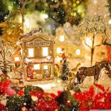 mini lights for christmas village christmas village 4k hd desktop wallpaper for tablet