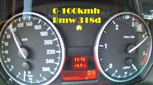 bmw e90 0 100 km h test 318d youtube