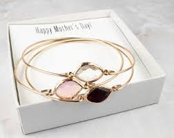 s day bracelets with birthstones birthstone bangle etsy