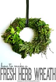 herb wreath fresh herb wreath home