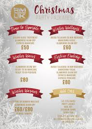 christmas hair beauty u0026 spa party packages rm uk leeds