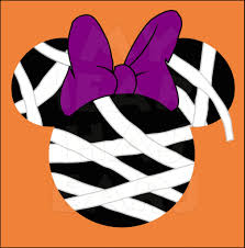 minnie mouse mummy instant download halloween digital clip art