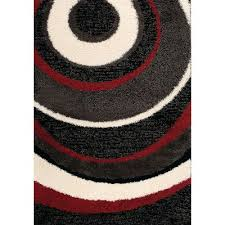 8 x 11 large red u0026 black area rug shaggy rc willey furniture store