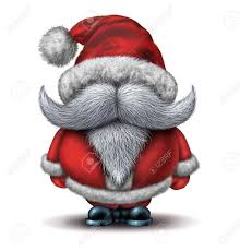 funny santa clause character concept with a cheerful huge white