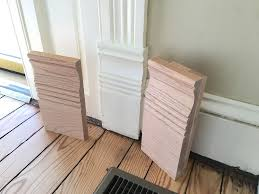 making new plinth block moulding look as good as old old town home