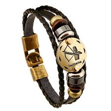 leather bracelet images Zodiac sign gallstone leather bracelet ashley jewels png