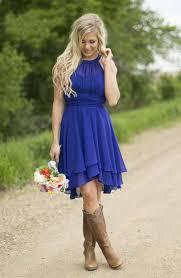 2017 country short bridesmaid dresses chiffon halter neck tiers