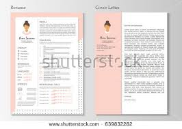 resume cover letter flat style design stock vector 562045822