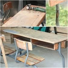 sous les jupes au bureau un nouveau regard relooking dun bureau decolier en bois vintage