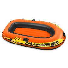 boats u0026 water sports walmart com intex explorer pro 2 person youth inflatable boat raft oars pump