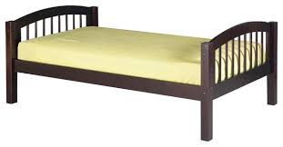 Kids Platform Bed Camaflexi Twin Platform Bed Arch Spindle Headboard Transitional