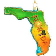 florida formed glass ornament bronner s