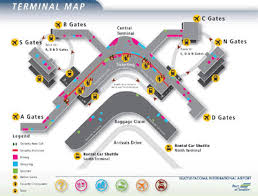 seattle airport terminal map car hire seattle tacoma airport cheap car rental us coast