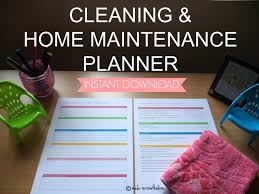 cleaning and home maintenance planner set single pdf with