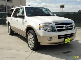 ford expedition el 2011 white platinum tri coat ford expedition el king ranch