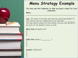 Example Of Main Dish Menu - differentiating content ppt video online download