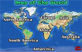 North America World Map by Kids Maps Maps And Geography For Kids
