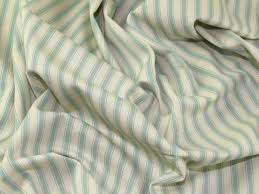 Mint Green Upholstery Fabric Ticking Stripe Woven Cotton Canvas Upholstery Fabric Jl 85024 M