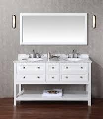 60 Inch Bathroom Vanity Stufurhome Marla 60 Inch Double Sink Bathroom Vanity With Mirror