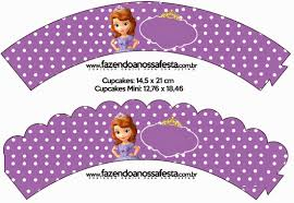 sofia the first free party printables and images cupcake