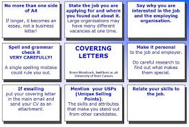 Letter For Sending Resume For Job by How To Write A Successful Covering Letter