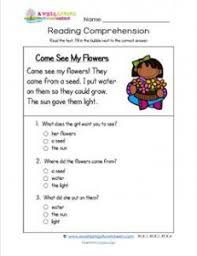 reading for kindergarten come see my flowers