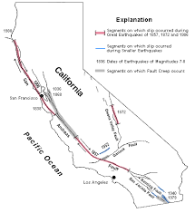san francisco fault map file san andreas fault map gif wikimedia commons