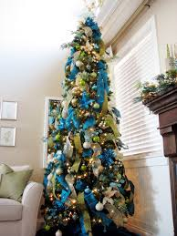 Blue And Silver Christmas Tree - blue christmas tree ornaments christmas lights decoration