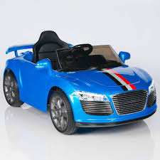 Audi R8 Blue - audi r8 style 12v ride on car w remote control rc mp3 port and
